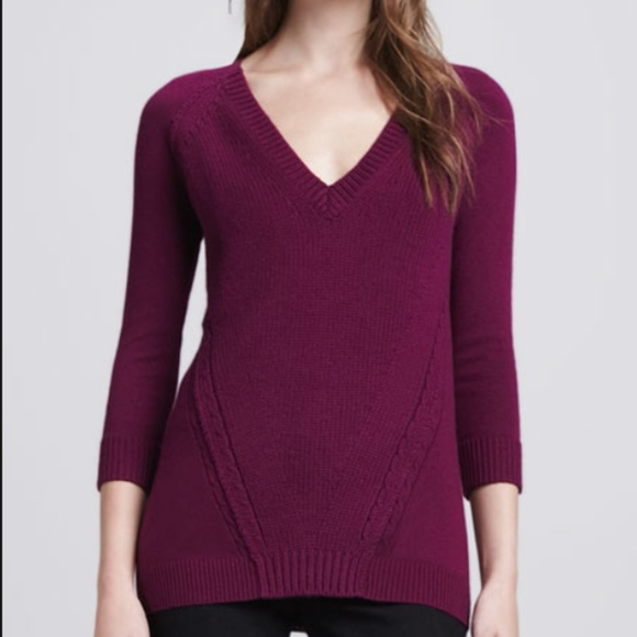 e06c7113032 Burberry Brit Cotton-Cashmere V-Neck Sweater